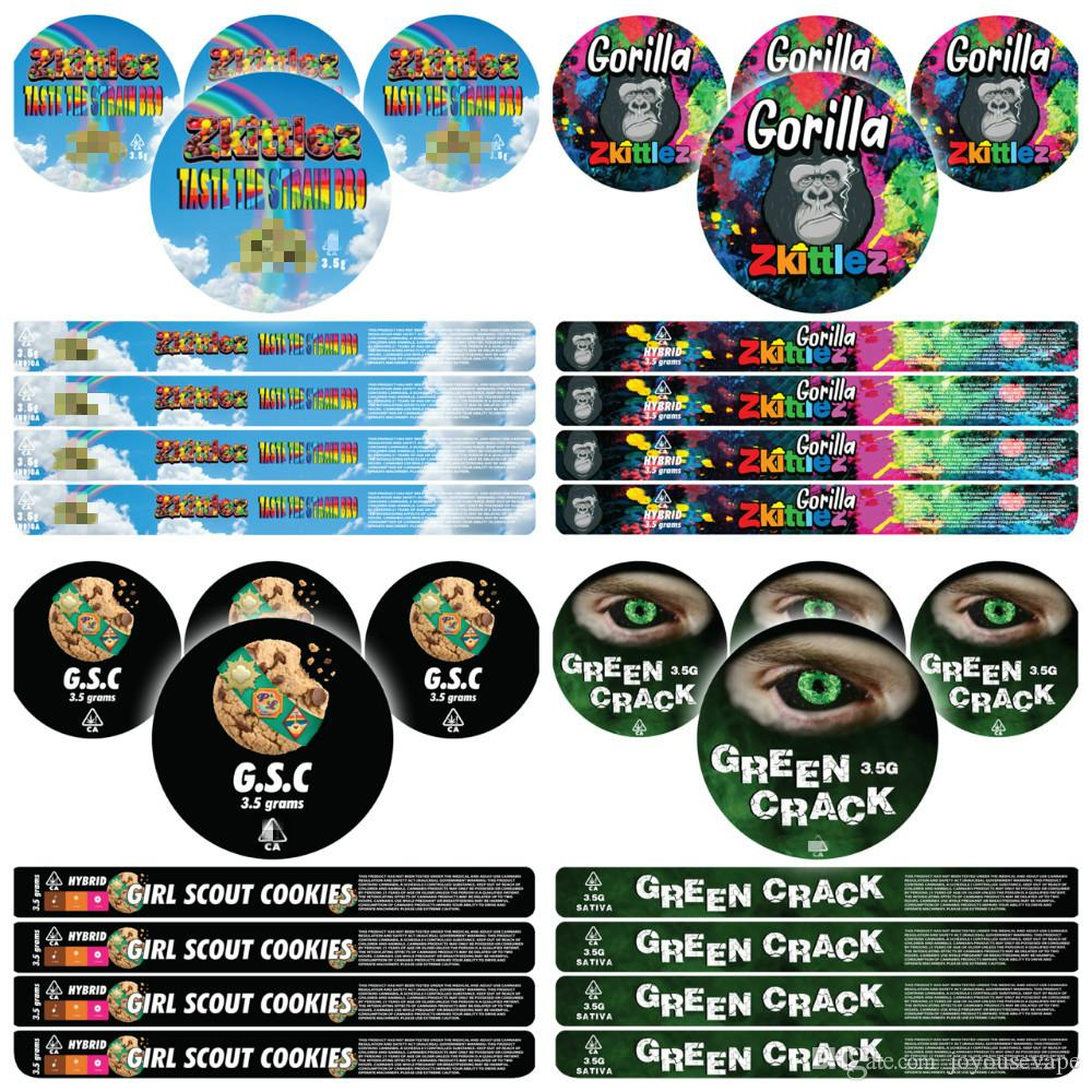 Collant champs 3.5 g Press It In Cali Tins preapplied étiquettes