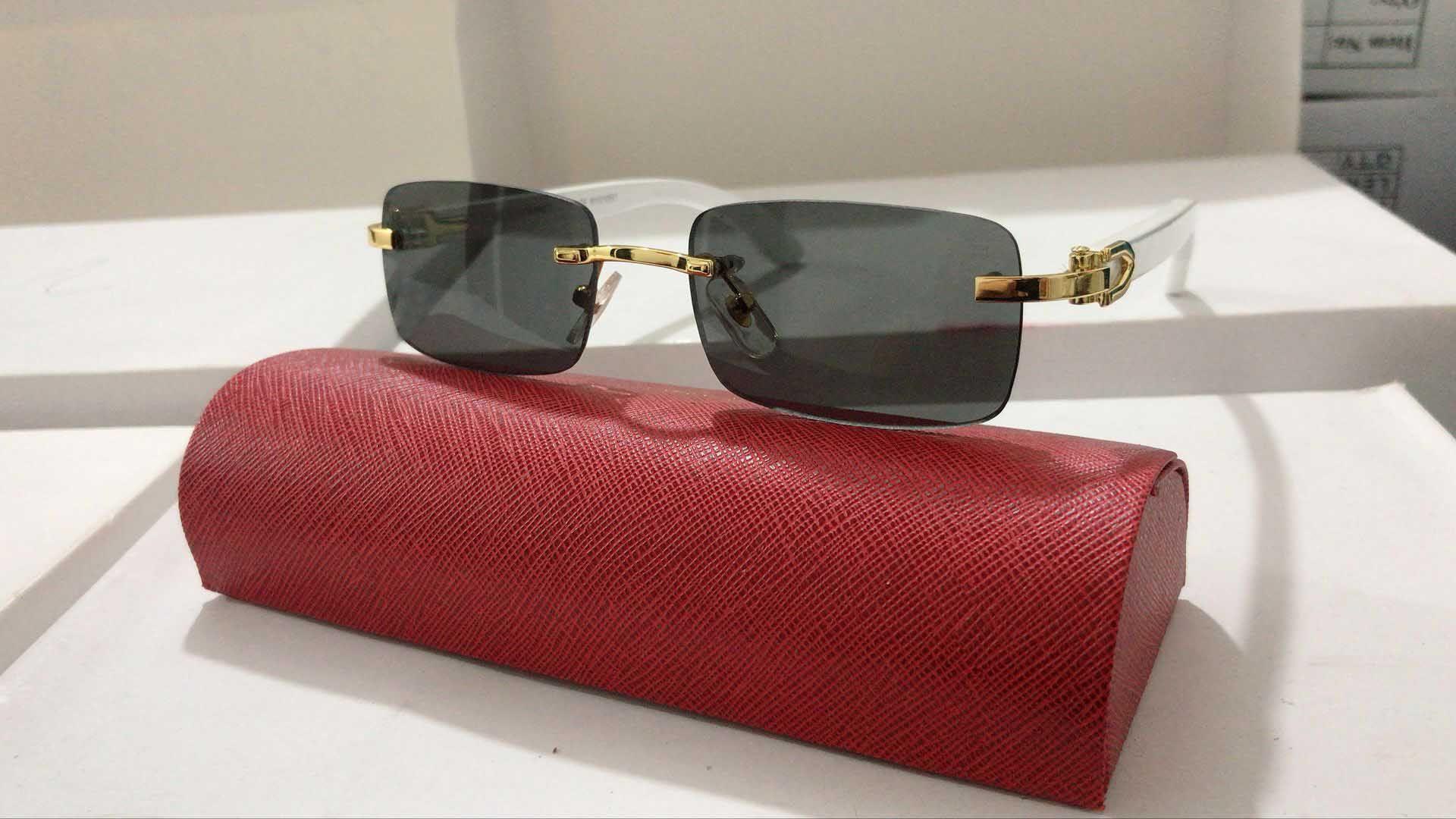 Neue Art und Weise Buffalo-Glas-Sonnenbrille Frauen Männer Randlos Weinlese-Sommer-Katzenauge-Art-Mode-Männer Buffalo Horn Gläser Beliebte Brillen