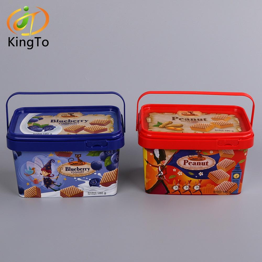 High quality injection pet in mould label custom sticker molding iml label