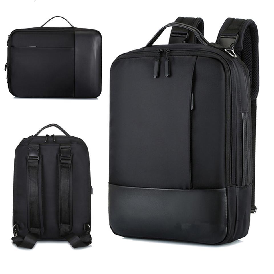 Business Backpack Men Laptop Backpacks 15.6 Inch Waterproof Male Women Bags USB Charging Back Pack Notebook Black Travel BagpackMX190903