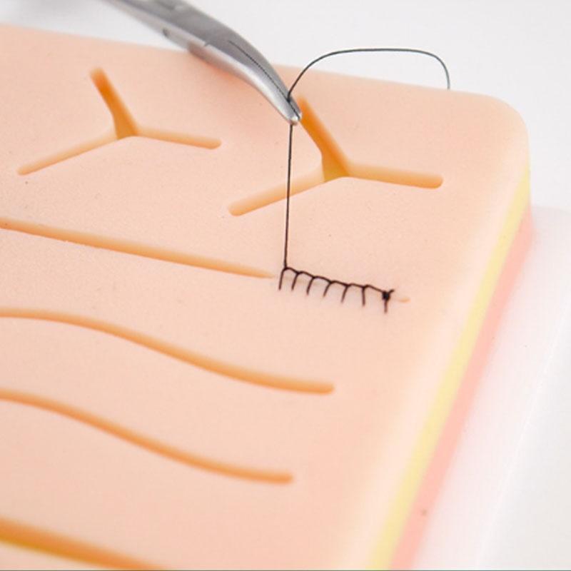 Сшивание кожи учебный комплект колодок шовный учебный комплект колодок травма аксессуары для практики и использовать