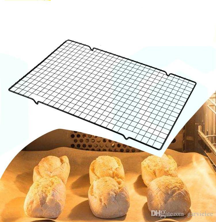 Karbon Çelik Yapışmaz Soğutma Raf Mesh Izgara Pişirme Tepsi İçin Bisküvi Kurutma Tel Pan Pişirme Bakeware AY021 Raf Standı