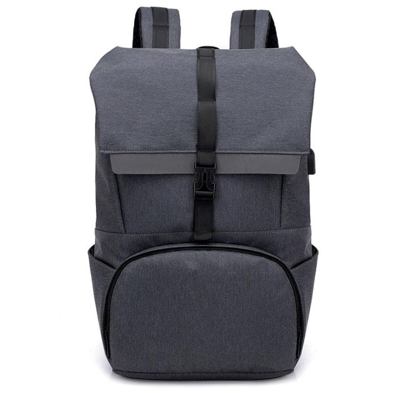FANSON Multipurpose Canvas Wear Resistant Adjustable Strap Backpack Casual Zipper USB Charge Port Large Capacity Rucksack