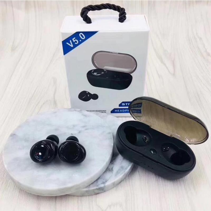 TWS2 wireless delle cuffie auricolari 5,0 TWS auricolari con caso del caricatore vs i9s gemme per iphone x / xs samsung s10 Huawei