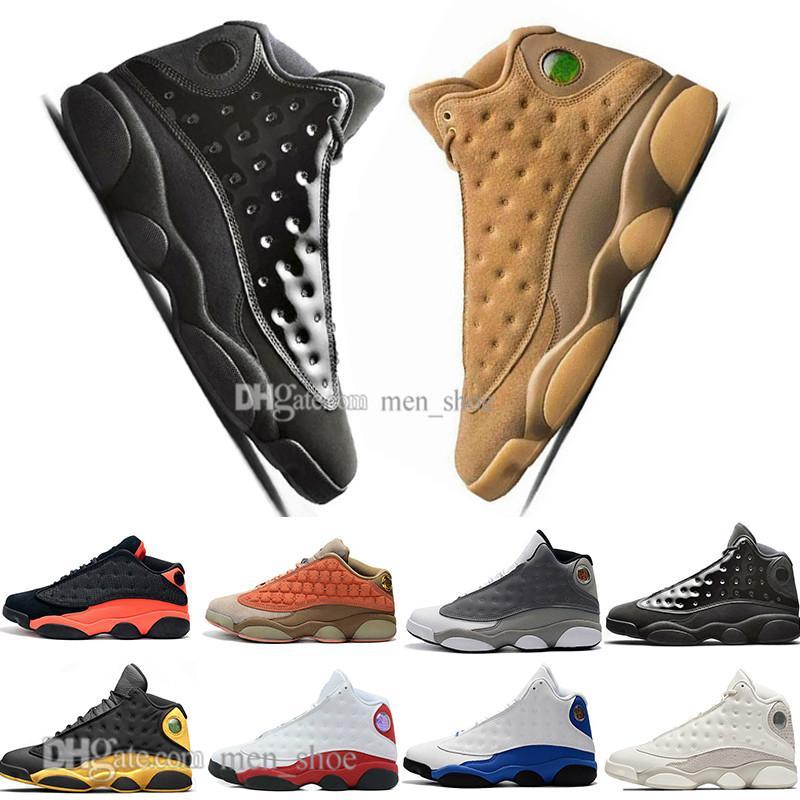 Con la caja barato nuevos 13 zapatos de baloncesto del Mens Terracotta Colorete 13s tapa y vestido negros de Chicago Pedernales infrarrojos Bred hombres se divierten las zapatillas de deporte diseñador
