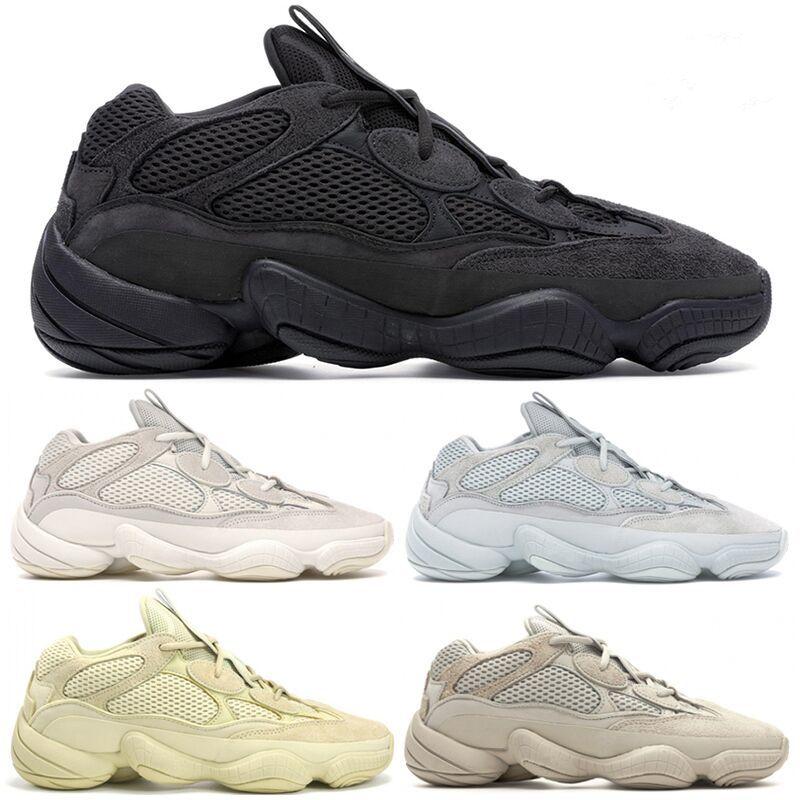 Bone White 500 pattini correnti degli uomini Donne des chaussures Super Luna Giallo Utility Nero Blush Salt Kanye West schuhe progettista Sport Sneakers