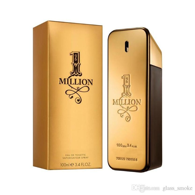 جيد الأزياء المعطر EDT 100ML الرجال بايوت الذهب 1 مليون الخشب نكهة دائم العطر بخاخ عطر الرجل المحترم