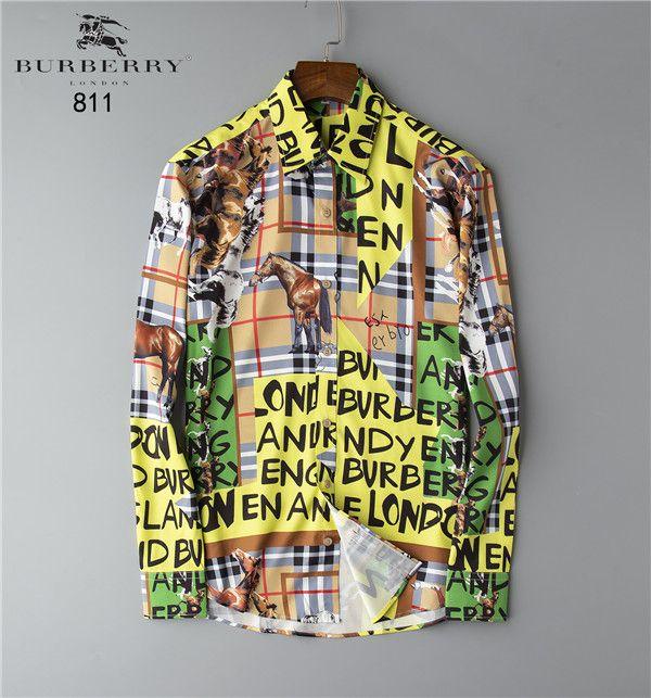 New Men's Brand Shirt Runway Appearance Print Long Sleeve Large Size 3D Dress Shirt High Quality Shirt Luxury Menswear