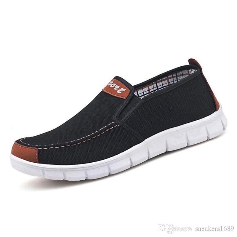 Männer Freizeitschuhe Canvas Loafers Größe 39-44 Beleg auf heißem Verkauf neue 2019 neue leichte Schuhe für männliche Schuhe X156