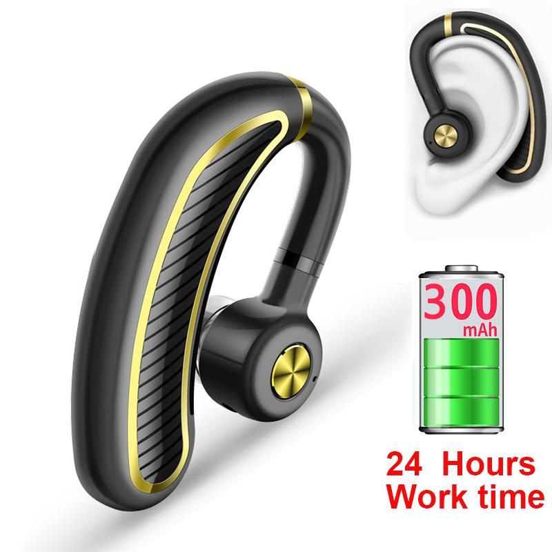Sports K21 Bluetooth Earphone 24 Hours Work Time Business Wireless Bluetooth Headset Earhook Earphones with Mic For Driver officer headphone