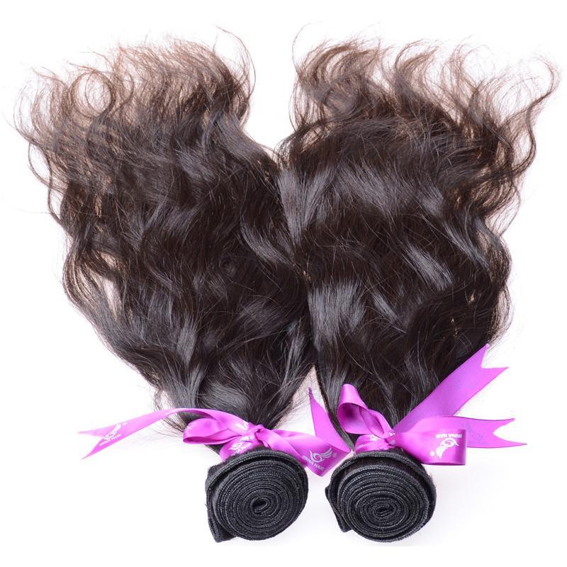 50%販売7A最高品質バージンブラジルのマレーシアのペルーのインドの髪の束の人間の髪織り3PCS自然波伸びヘアチナから
