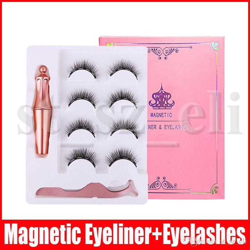 Magnetic Liquid Eyeliner With Magnetic False Eyelashes Eyelash Applicator Set Natural Waterproof Eyelash Extension Makeup Tool