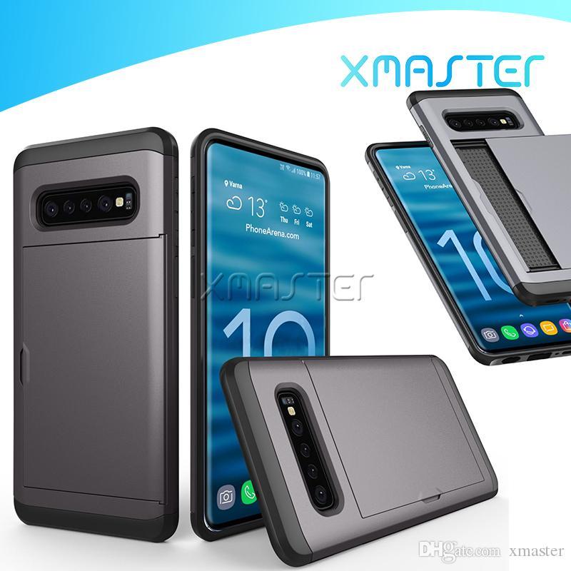 Слот для слайдов SGP Двухслойные слои Удароженные кошельки Протектор телефона Чехол для iPhone 11max Samsung Note 10 S9 Note8 с розничной упаковкой