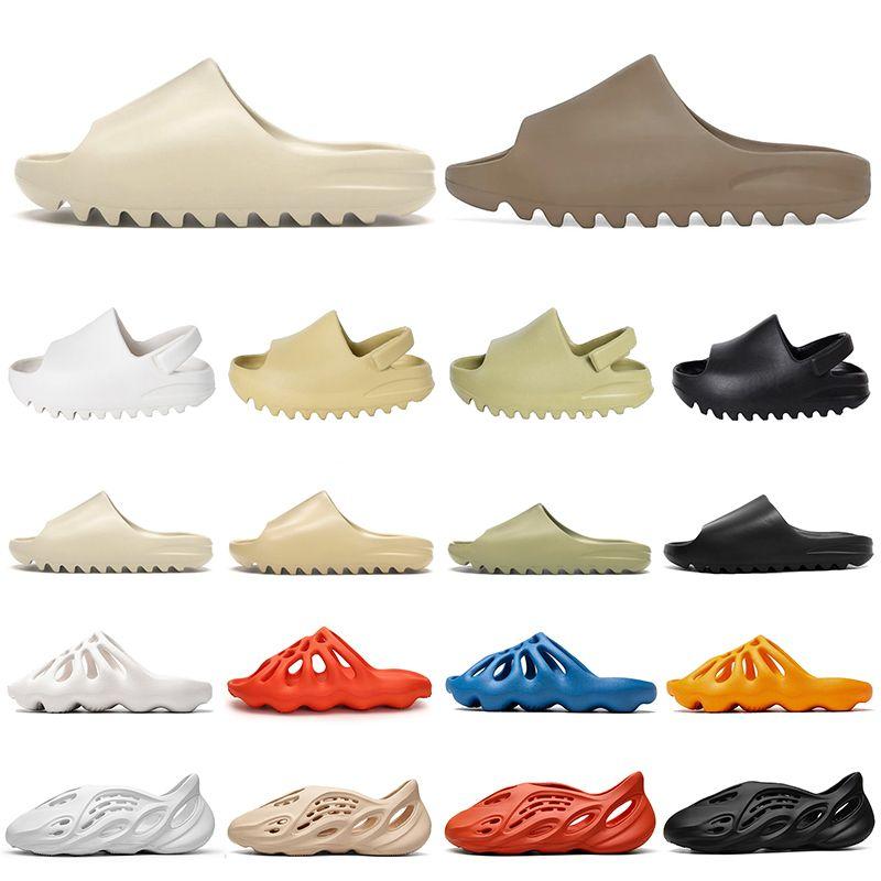 adidas yeezy slide foam runner Chaussures de moda Kanye West Hombres Mujeres Diseñador Slides Slippers Foam Runner Clog Sandalias house slip-on platform al aire libre