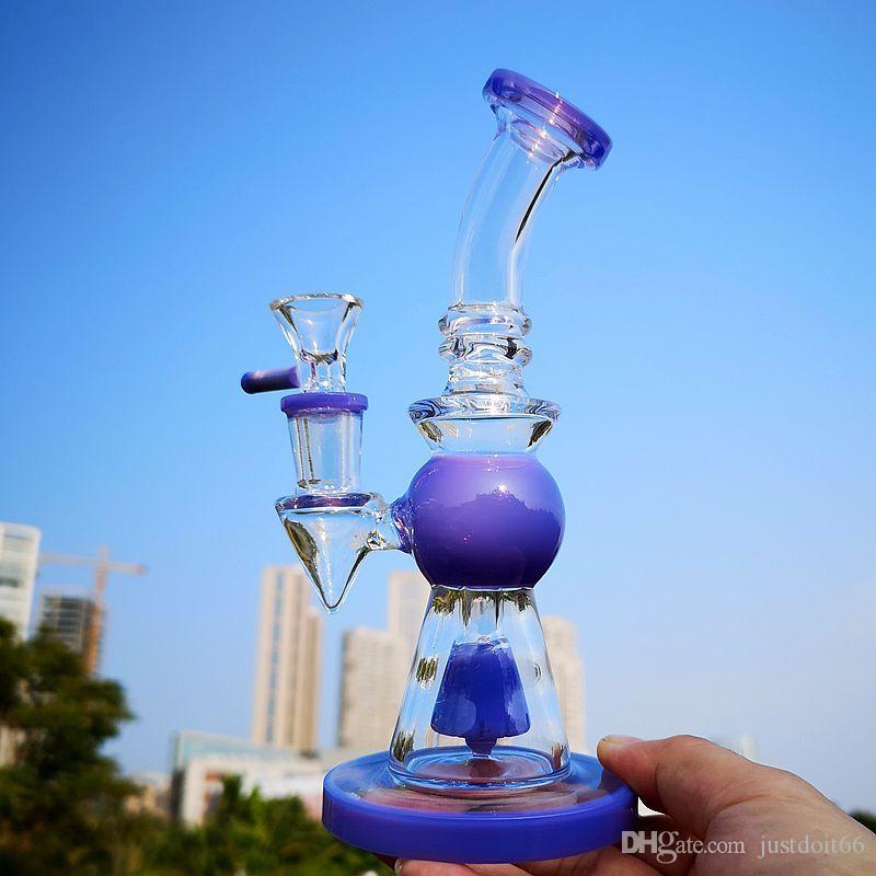 Pyramide design Heady verre Bongs avec pomme de douche Percolateur Bang Rigs court Nect huile Embouchure Les conduites d'eau 14mm Joint Dab Rig tuyau XL2752