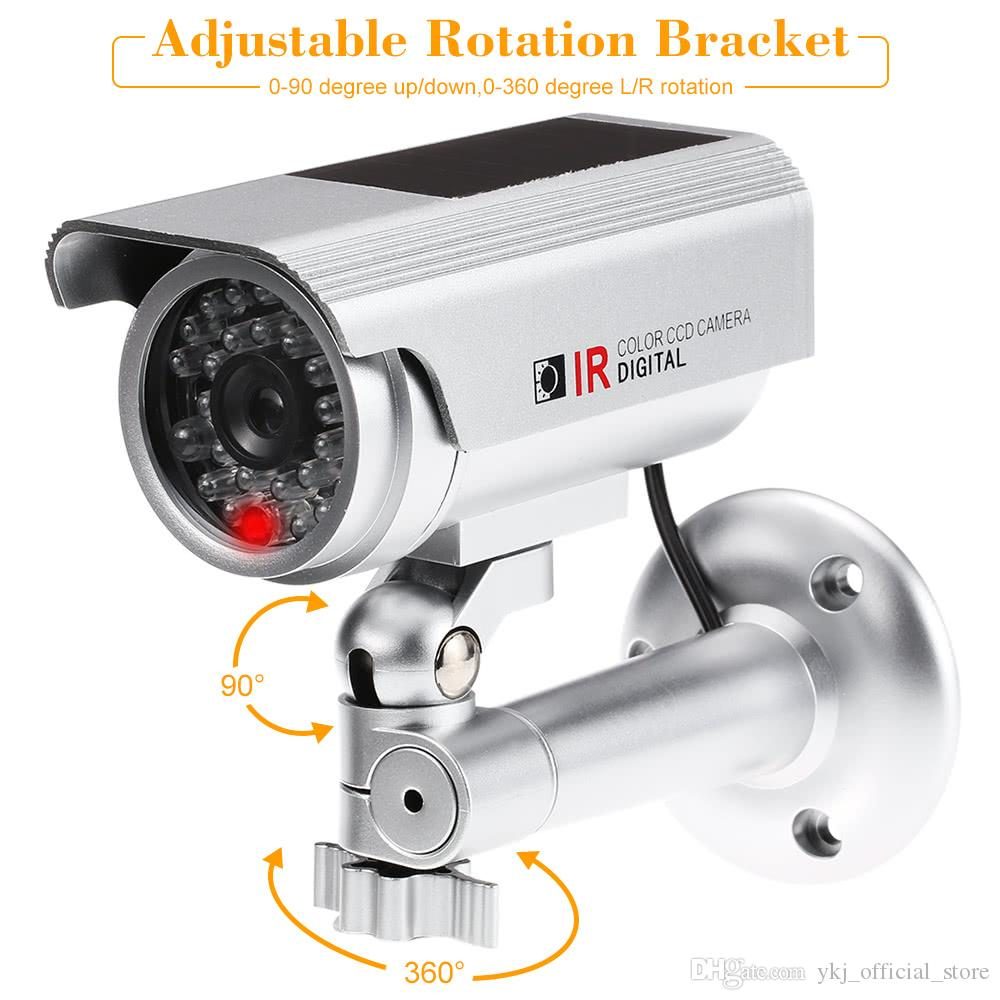Caméra de surveillance FACTICE dissuasive étanche LED rouge intérieur extérieur