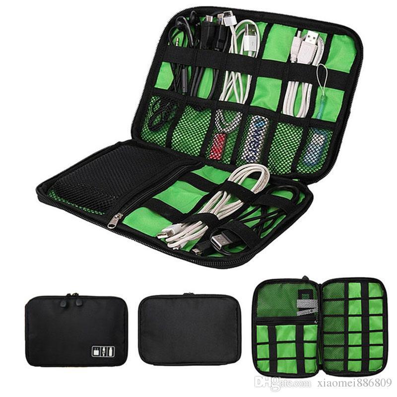 New Style Storage Bag Digital Organizer Kit Wire Pen USB Data Cable Earphone Bag