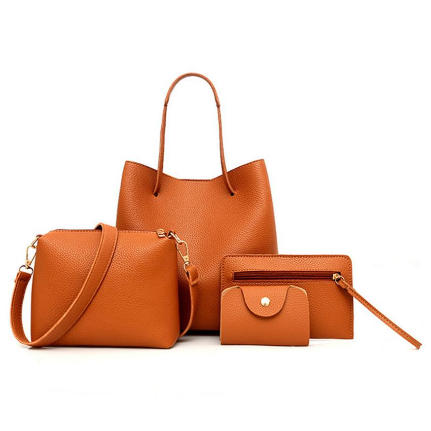 Mujer Products Set College Bags Carteras Piece Innovative De Woman's 2019 Cuero De Handbag 2019 Sets Four Bwhsp