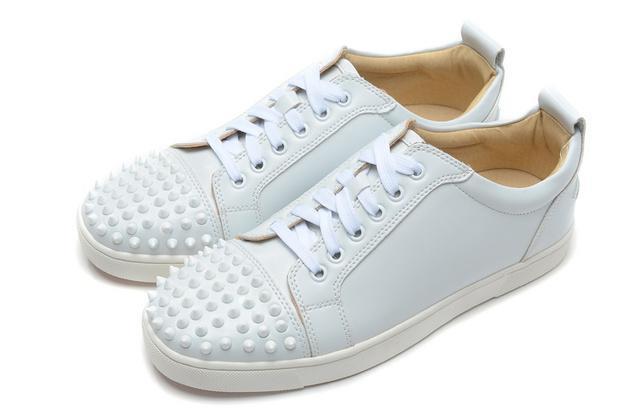 2019 Designer Sneakers-Top junior Spikes Appartements Chaussures Bas-Rouge pour les chaussures pour hommes et femmes en cuir Designer Shoe A046 D09
