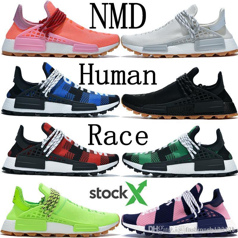 BBC 2020 Human Race Pharrell Williams designer shoes infinite species breath though Know Soul Yellow Solar Pack HU Men outdoor sneakers