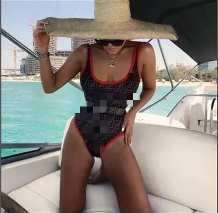 2020 новый высокое качество дизайнер женский FD сексуальный цельный купальник летний пляж сексуальная приманка бикини s-XL