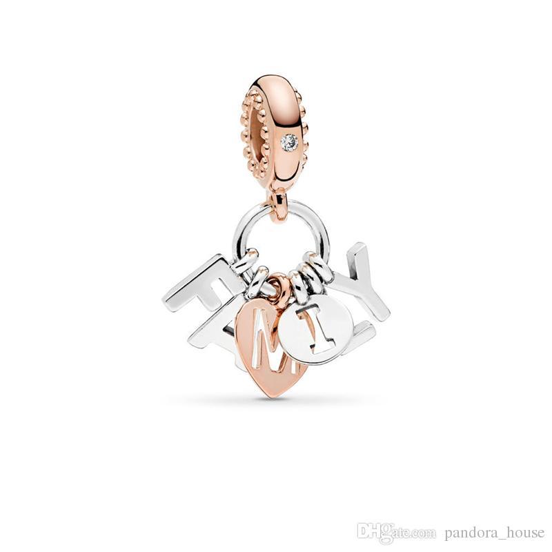 2019 Journée des mères authentique réelle 925 Sterling Silver Pandora Perfect Family Charms Charmes Européen Beads Fit Pandora Bracelet DIY Bijoux