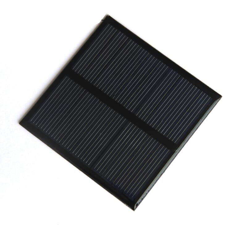 BUHESHUI 0.7W 5V 미니 태양 전지 패널 다결정 태양 전지 소형 전원 3.7V 배터리 충전기 Led 빛 연구 70 * 70MM