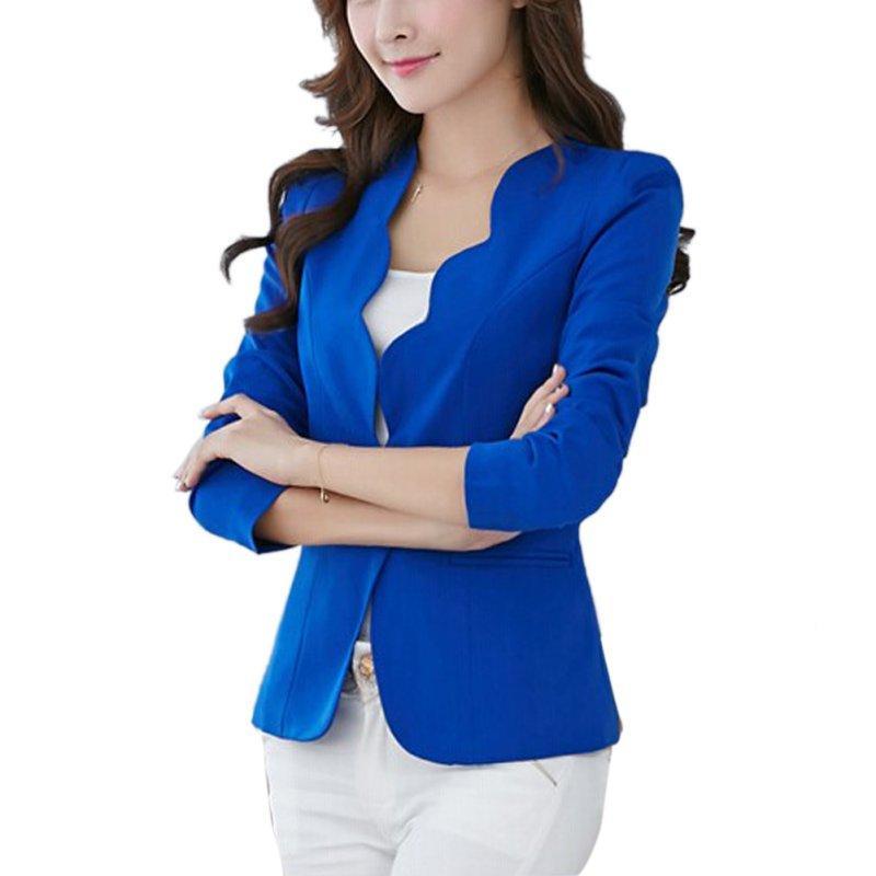 Sólido Brasão Jacket Cor oioninos 2017 Mulheres One Button Magro Blazer Casual Negócios Office Lady Suit Outwear 4 cores