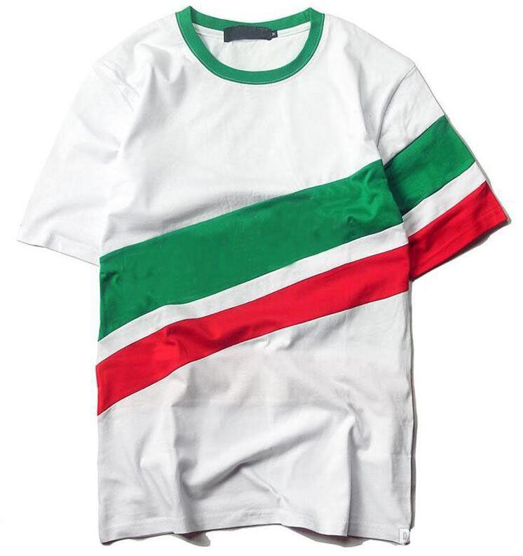 Tide triangle t shirt for men summer hip hop loose mens design t shirts short sleeve men t shirt Asia Size free shipping
