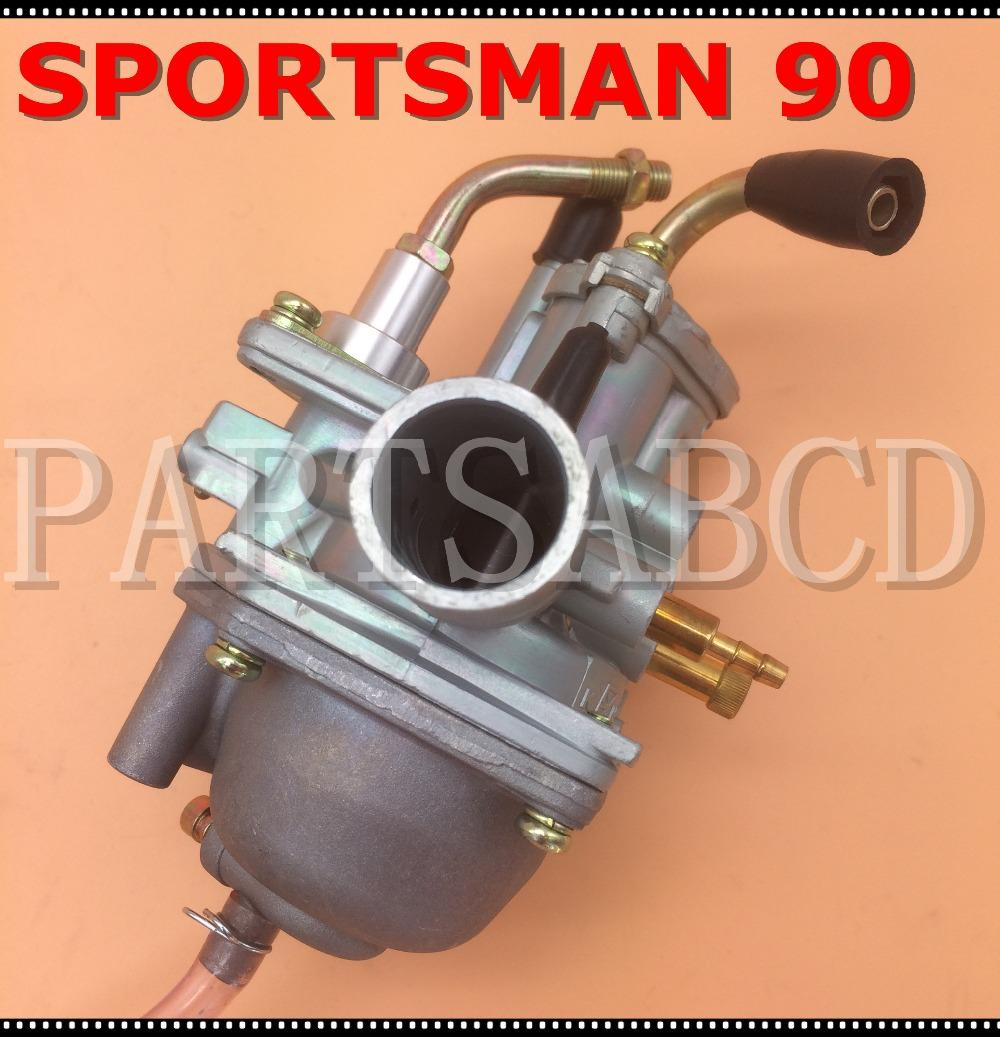 Carburatore Per Polaris Sportsman 90 2004 Manuale ATV cavo Soffocare 90cc Carb 2 Tempi