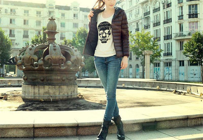 Moda Fina encapuçado da mulher Roupa Ladis Casacos de inverno sólida com bolso com zíper de algodão Mulheres acolchoado Jacket