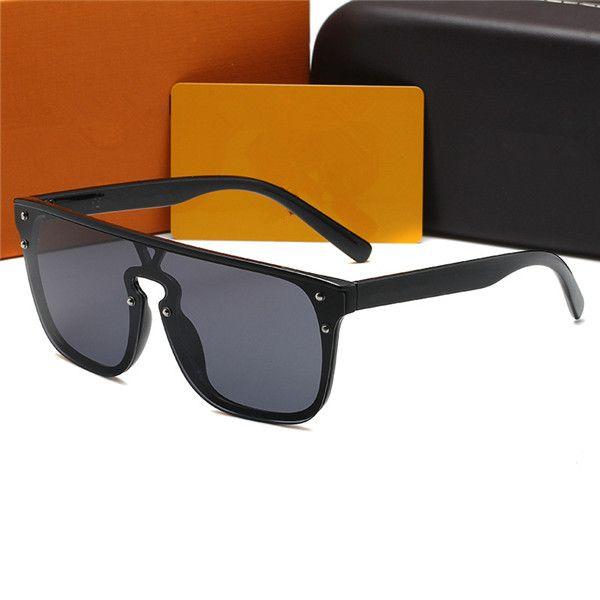 Lunettes de soleil de luxe Lunettes de soleil Marque de mode pour les hommes Femme en verre Rectangle conduite UV400 adumbral avec la boîte 1082 5color haute qualité