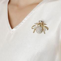 Monili animali Beee strass Spilla pin partito del vestito Bee Spille Pins Dichiarazione Accessori Spille per Regali Festa delle donne delle ragazze di San Valentino