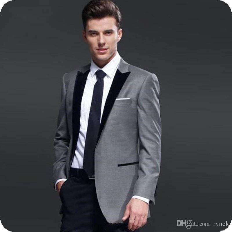 Noire Manteau Blazer Costume Homme Pantalon Costumes Mariage Designs Gris Groom Deux Pièces Smokings Veste Lapel Dernières De Hommes Acheter Homme nwvm0yN8O