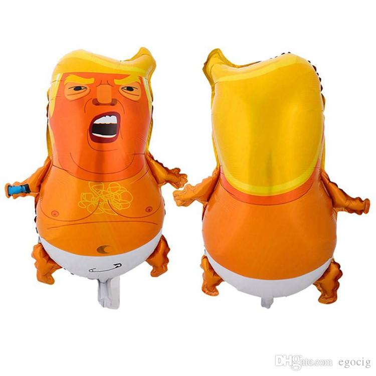 Trump balloon kid funny Baby Aluminum Balloons Funny Donald Trump Air Balloons Novelty Kids Toy Festival Party decoration FREE SHIPPING