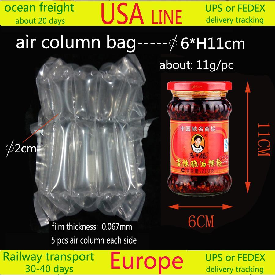 Sac Air (* H11cm Diagramme 6) 1500pcs / ctn expédition aux Etats-Unis environ 20 jours / Transport ferroviaire vers les pays européens 30-40 jours de suivi UPS record