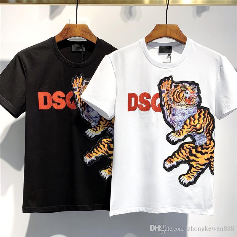 새로운 T 셔츠 힙합 남성 T 셔츠 패션 브랜드 남성 여성 짧은 소매 대형 사이즈의 T 셔츠 도매 티 탱크 D2