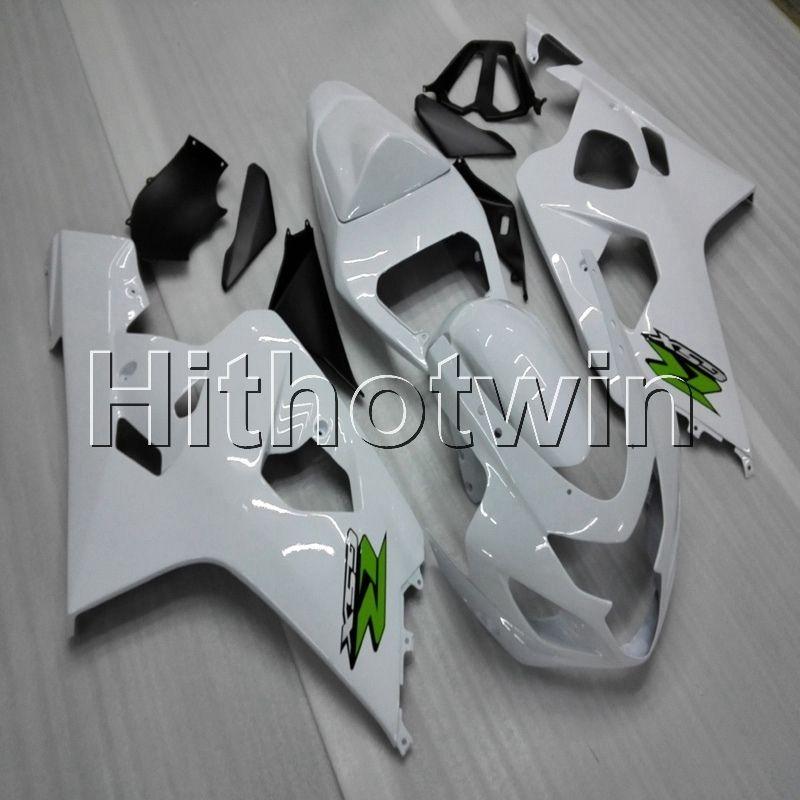 Botls + Gifts bianco cappuccio moto Suzuki GSX-R600750 2004-2005 GSXR600 04-05 ABS messa in onda