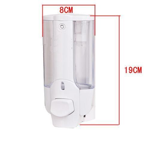 350ml Seifenspender Wand-Press Flüssigseifenspender Kunststoff-Handwaschseife Flasche Badezimmer Sanitizer Dispenser GGA3473-4