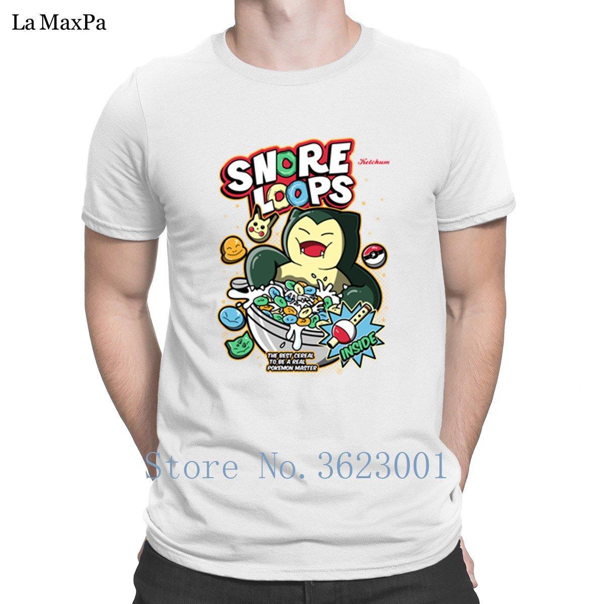 Персонализированные Letters Man Храп Loops Футболки для мужчин Slim Fit Дешевые T Shirt Basic Solid Размер S-3XL комичного