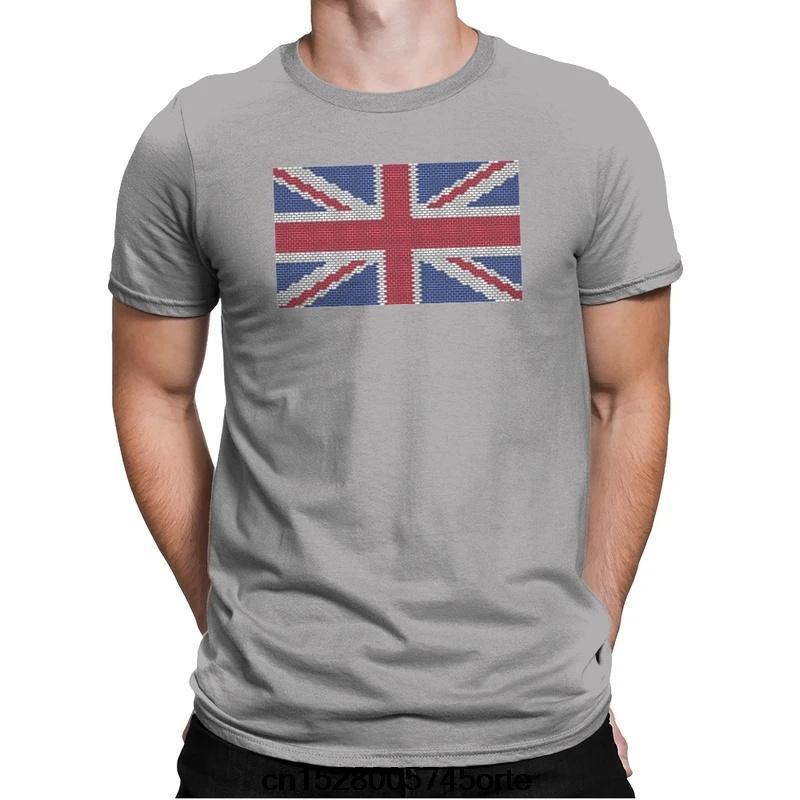 Impresso engraçado novo camiseta Reino Unido TIJOLO FLAG EXCLUSIVO das mulheres dos homens T-shirt