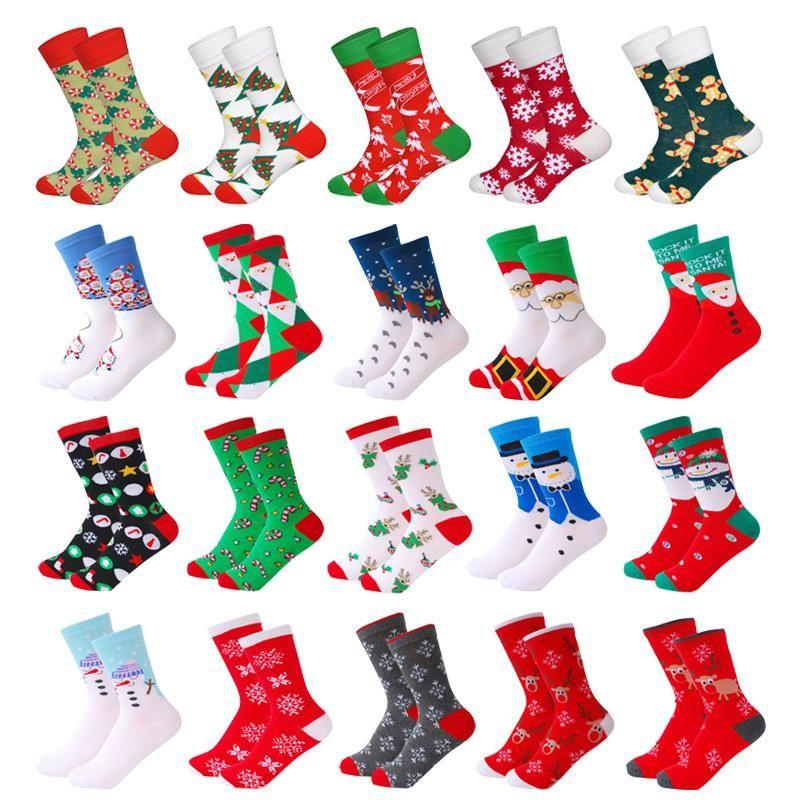 Cotton Christmas Socks Women &Men New Autumn Winter New Year Santa Claus Christmas Tree Snow Elk Gift Happy Socks Eur35-39