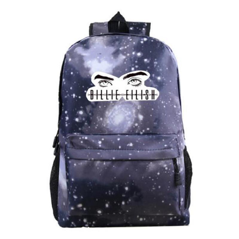 illie Eilish Rucksäcke Unisex Damen Herren Schulranzen Laptop Reisetaschen Teenager-Notebook-Rucksack Hipster Mochila Bag Fans Geschenke