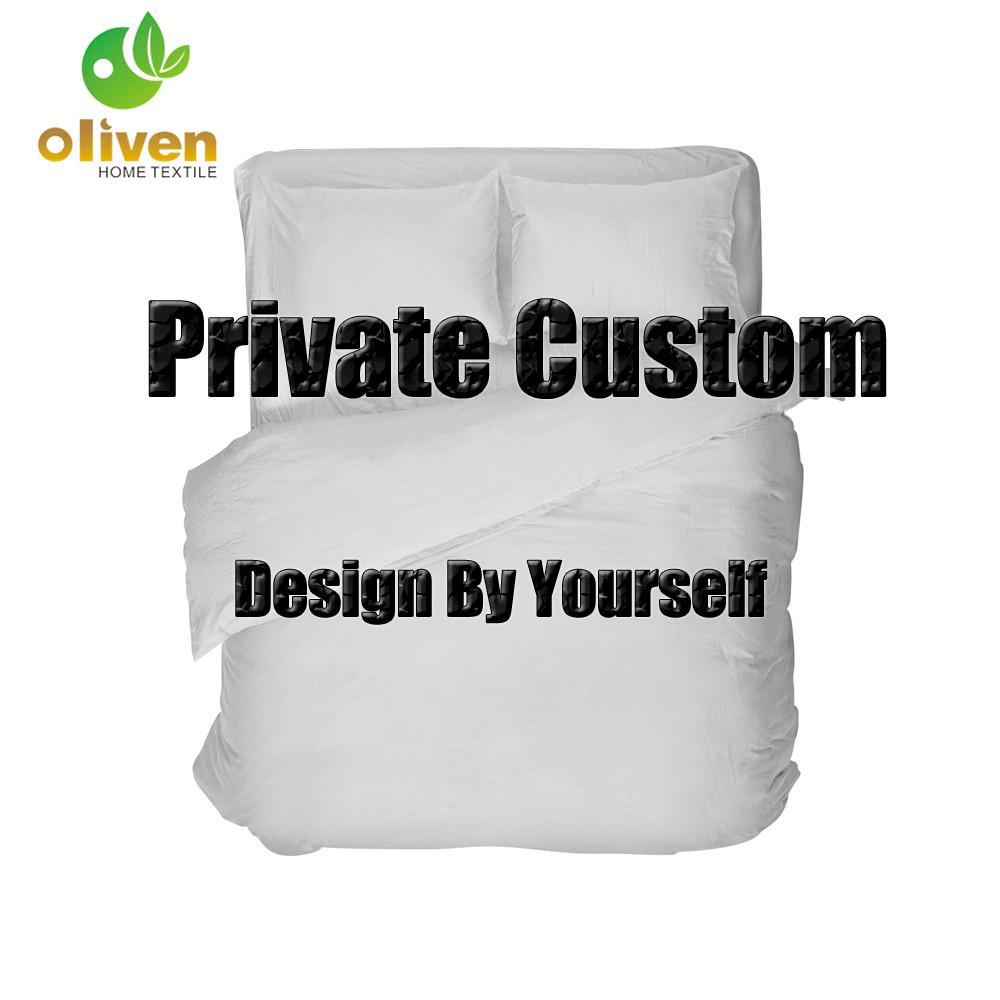 3 / 4pcs si è regolato su ordine Duvet Cover federa del cuscino copertura piana Lenzuolo Foglio di fabbrica prezzo Bed Set Dropshipping