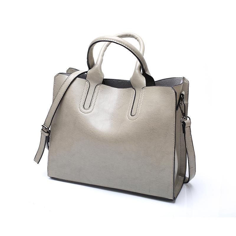 Bolso de mujer bolso de cuero bolso de mano gris bolso bolsillo bolso bolso bolsas grandes bolsas bolsas bolsos dama de mujer exfib