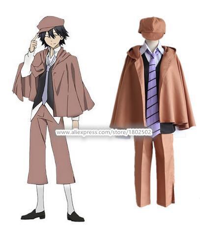 Anime Bungo Stray Dogs Detective Ranpo Edogawa Costumi Cosplay Vest mantello Pantaloni Cravatta Cappello Uniforme Outfit Suit