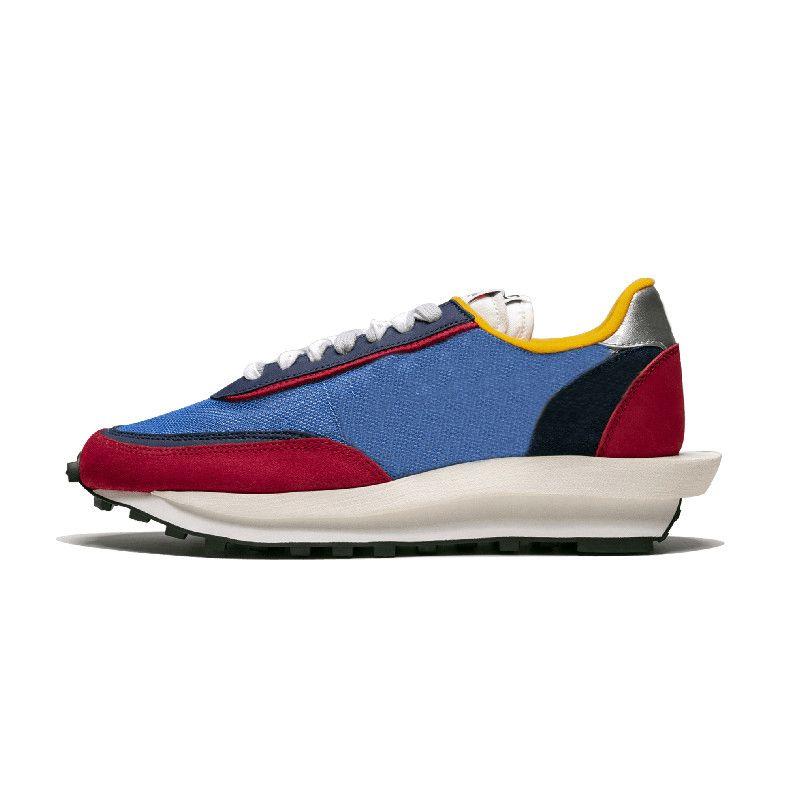 Sacai X Nike LDV WAFFLE Hombres Mujeres Classic Zapatos casuales Negro Blanco Mens Zapatillas deportivas Hombre Walking Sports Tenis Zapatos
