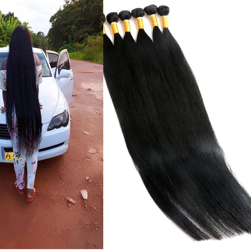 버진 인간의 머리카락 번들 브라질 헤어 짜기 처리되지 않은 8-40inch wefts 인도 페루 말레이시아 밍크 인간의 머리카락 확장