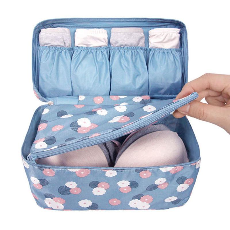 Portable Travel Bra Underwear Case Organizer Bag Waterproof Women Cosmetic Makeup Bag Storage Bra