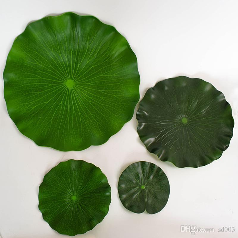 Yapay Lotus Yaprağı Köpük Dans Sahne Lotuses Çiçek Gölet Yüzey Dekorasyon Simüle Nilüferler Su yürüyüş 17 64sy L1 Bırakır
